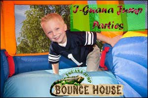 birthday party with jump house